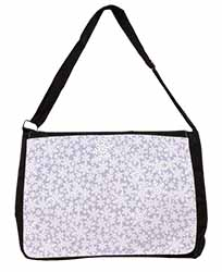 Snow Flakes Large Black Laptop Shoulder Bag School/College