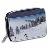 Snow Ski Skiers on Mountain Girls/Ladies Denim Purse Wallet Birthday Gift Idea