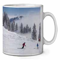 Snow Ski Skiers on Mountain Coffee/Tea Mug Gift Idea