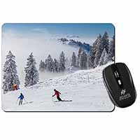 Snow Ski Skiers on Mountain Computer Mouse Mat Birthday Gift Idea