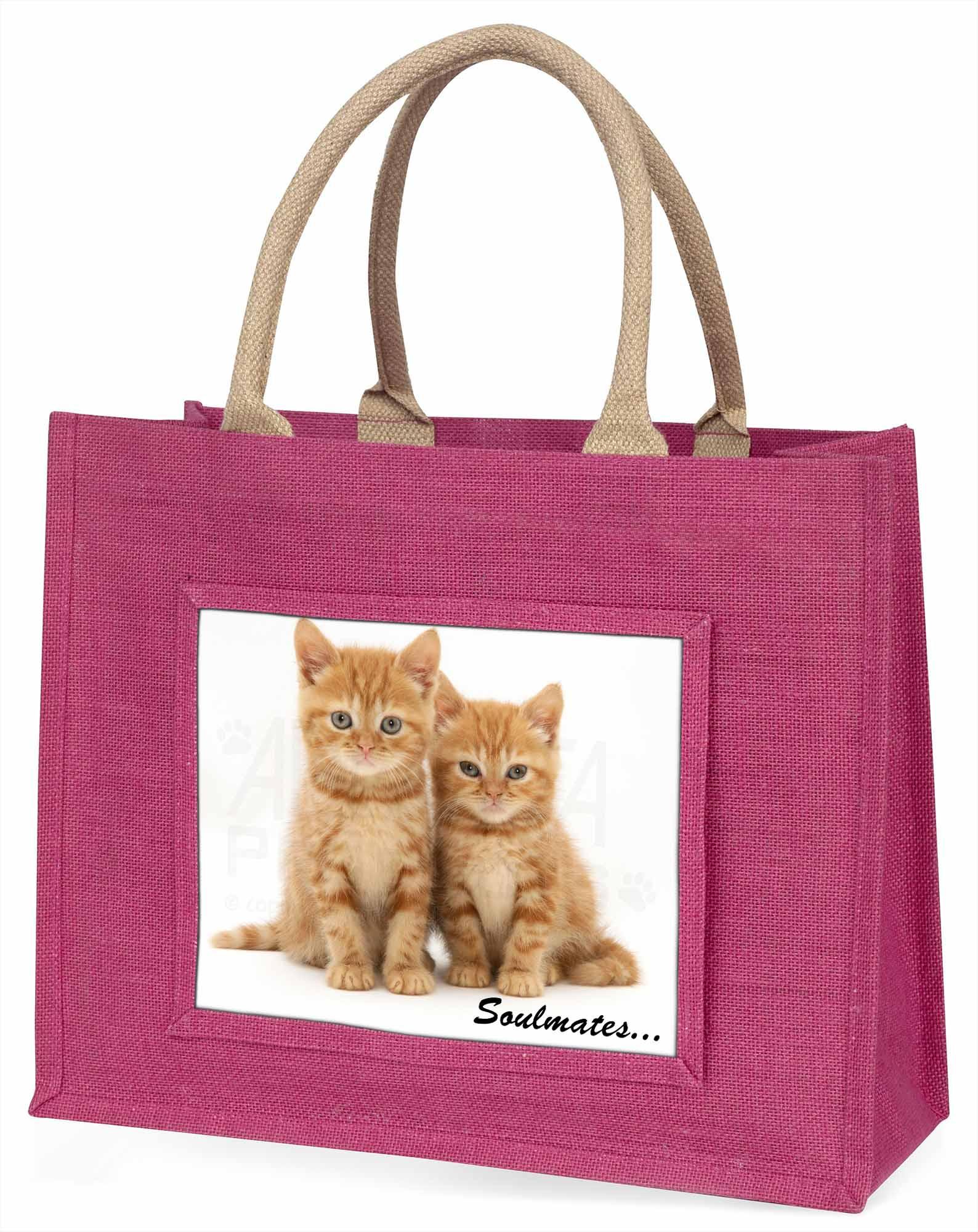 ingwer-kätzchen  Soulmates  Stimmung große rosa Einkaufstasche