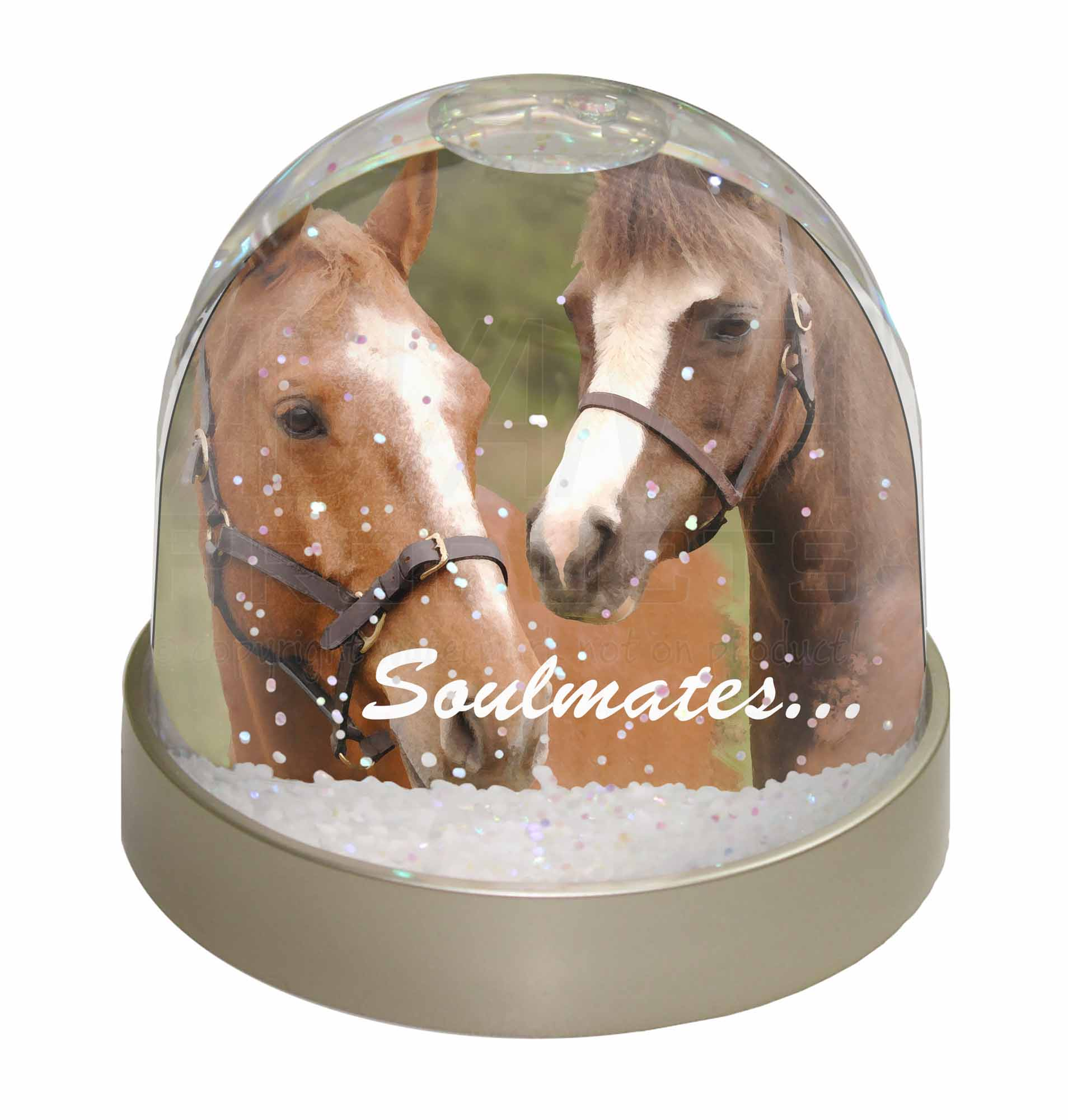 chevaux mes soeurs sentiment photo neige globe waterball chaussette remplir ebay. Black Bedroom Furniture Sets. Home Design Ideas