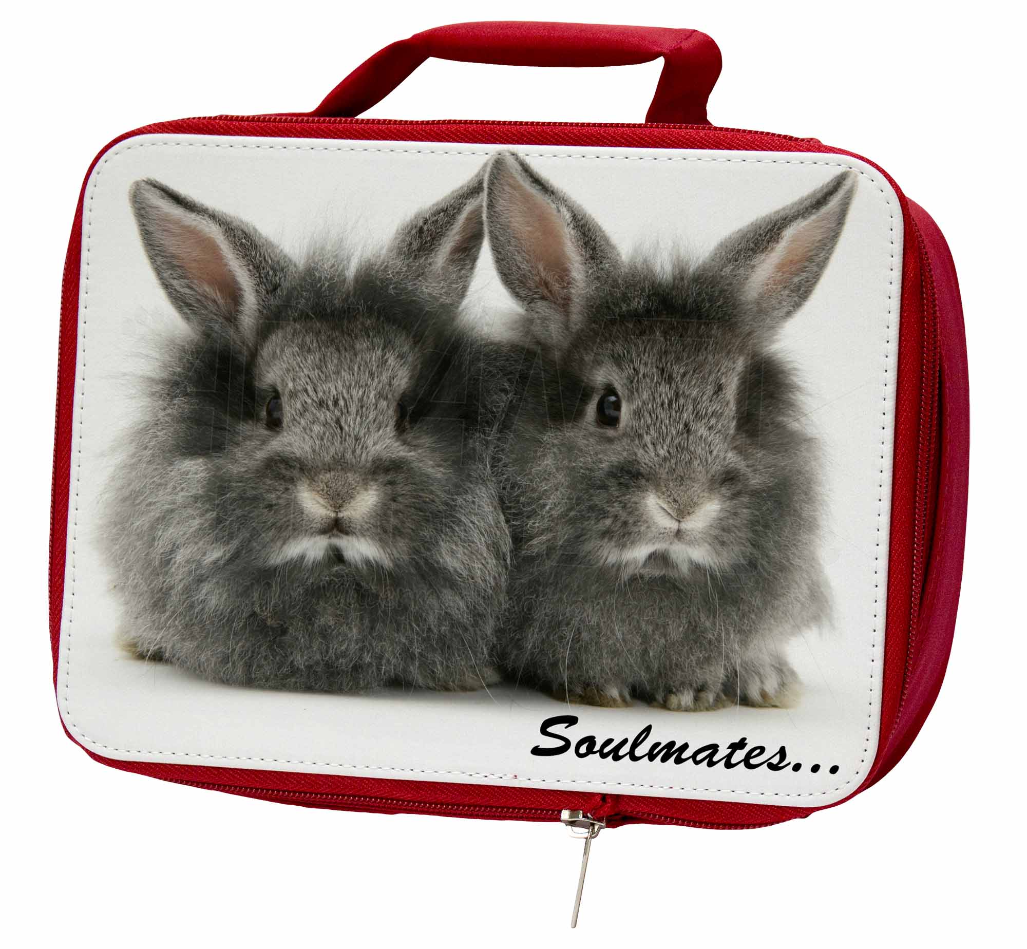 Two Silver Rabbits 'Soulmates' Insulated Red School SOUL-74LBR Lunch Box/Picnic, SOUL-74LBR School 363f9b