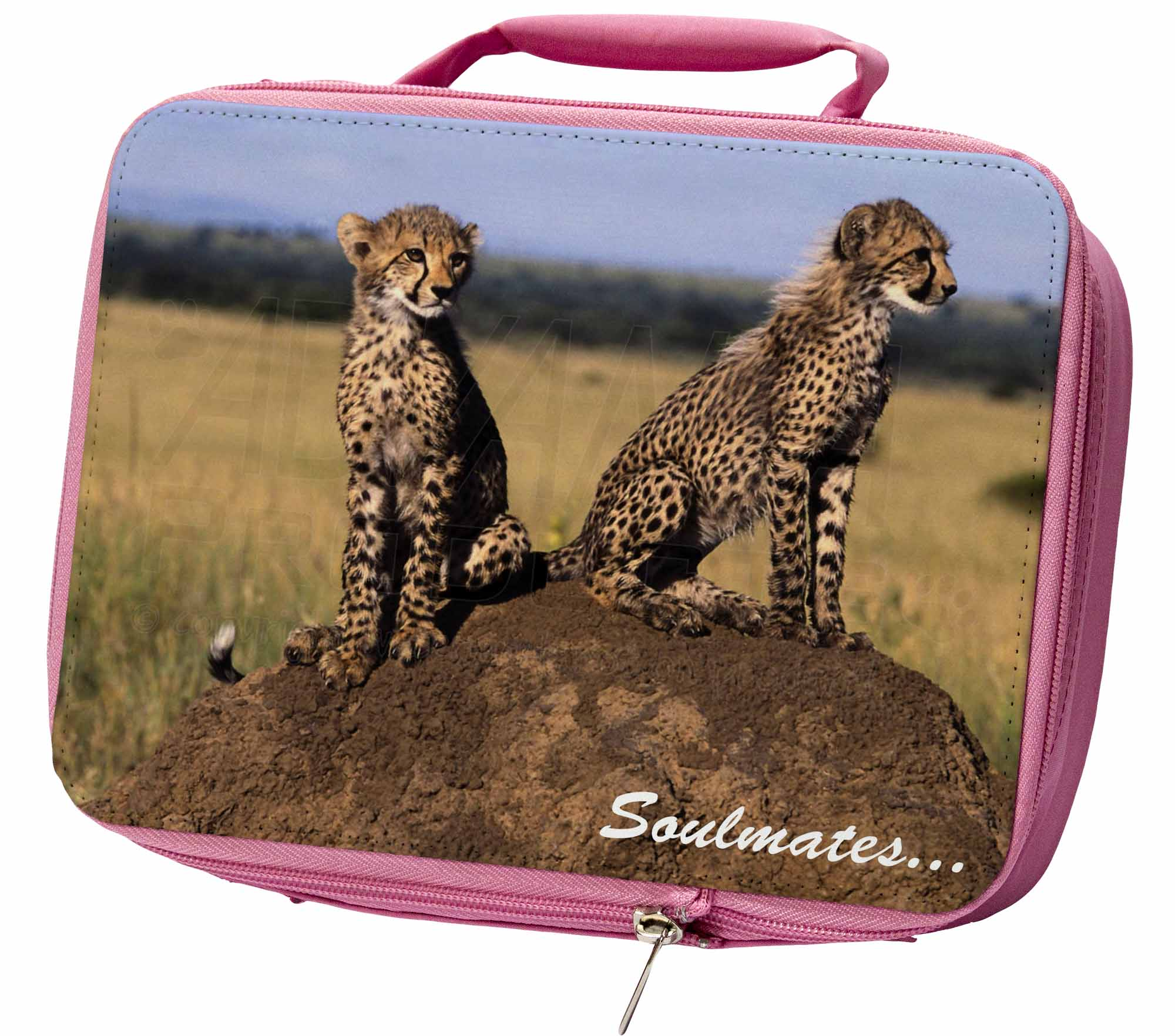 Two-Cheetahs-039-Soulmates-039-Insulated-Pink-School-Lunch-Box-Bag-SOUL-80LBP