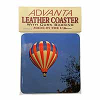 Hot Air Balloon Single Leather Photo Coaster Perfect Gift