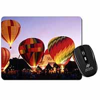 Hot Air Balloons at Night Computer Mouse Mat Christmas Gift Idea