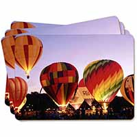 Hot Air Balloons at Night Picture Placemats in Gift Box