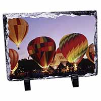 Hot Air Balloons at Night Photo Slate Christmas Gift Ornament