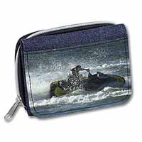 Jet Ski Skiier Girls/Ladies Denim Purse Wallet Birthday Gift Idea