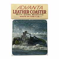Jet Ski Skiier Single Leather Photo Coaster Perfect Gift