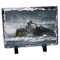 Jet Ski Skiier Photo Slate Christmas Gift Idea