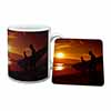 Sunset Surf Mug+Coaster Christmas/Birthday Gift Idea