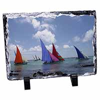 Sailing Regatta Photo Slate Christmas Gift Ornament
