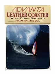 Wind Surfer Single Leather Photo Coaster Perfect Gift