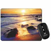 Secluded Sunset Beach Computer Mouse Mat Christmas Gift Idea