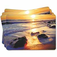 Secluded Sunset Beach Picture Placemats in Gift Box