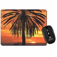Tropical Palm Sunset Computer Mouse Mat Birthday Gift Idea