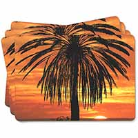 Tropical Palm Sunset Picture Placemats in Gift Box
