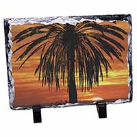 Tropical Palm Sunset Photo Slate Photo Ornament Gift