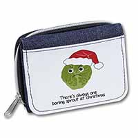 Christmas Grumpy Sprout Girls/Ladies Denim Purse Wallet Birthday Gift Idea