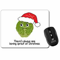 Christmas Grumpy Sprout Computer Mouse Mat Birthday Gift Idea