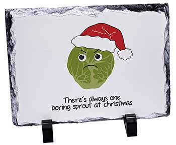 Christmas Grumpy Sprout Photo Slate Christmas Gift Idea