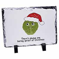 Christmas Grumpy Sprout Photo Slate Photo Ornament Gift