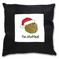 Chirstmas Stuffing Ball Black Border Satin Feel Scatter Cushion