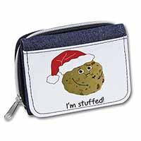 Chirstmas Stuffing Ball Girls/Ladies Denim Purse Wallet Birthday Gift Idea