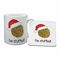 Chirstmas Stuffing Ball Mug+Coaster Birthday Gift Idea