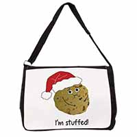 Chirstmas Stuffing Ball Large Black Laptop Shoulder Bag School/College