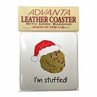 Chirstmas Stuffing Ball Single Leather Photo Coaster Perfect Gift