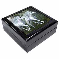 Two White Unicorns Keepsake/Jewellery Box Birthday Gift Idea
