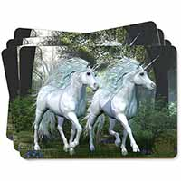 Two White Unicorns Picture Placemats in Gift Box