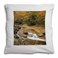 Autumn Waterfall Soft Velvet Feel Cushion Cover With Pillow Inner
