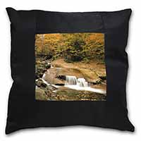 Autumn Waterfall Black Border Satin Feel Cushion Cover+Pillow Insert