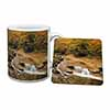 Autumn Waterfall Mug+Coaster Christmas/Birthday Gift Idea