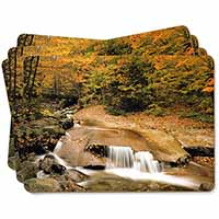 Autumn Waterfall Picture Placemats in Gift Box