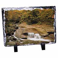 Autumn Waterfall Photo Slate Photo Ornament Gift