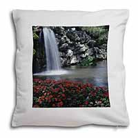 Tranquil Waterfall Soft Velvet Feel Cushion Cover With Pillow Inner