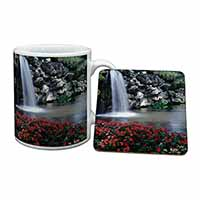 Tranquil Waterfall Mug+Coaster Birthday Gift Idea