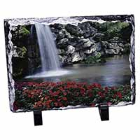 Tranquil Waterfall Photo Slate Photo Ornament Gift