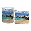 Tropical Seychelles Beach Mug+Coaster Christmas/Birthday Gift Idea