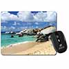 Tropical Seychelles Beach Computer Mouse Mat Christmas Gift Idea