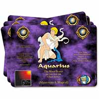 Aquarius Star Sign Birthday Gift Picture Placemats in Gift Box