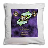 Pisces Star Sign Birthday Gift Soft Velvet Feel Scatter Cushion
