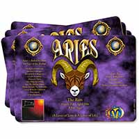 Aries Astrology Star Sign Birthday Gift Picture Placemats in Gift Box