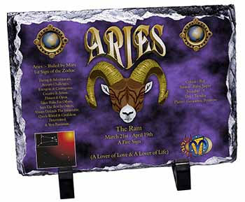 Aries Astrology Star Sign Birthday Gift Photo Slate Photo Ornament Gift