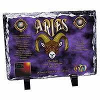 Aries Astrology Star Sign Birthday Gift Photo Slate Christmas Gift Ornament