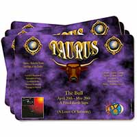 Taurus Star Sign Birthday Gift Picture Placemats in Gift Box